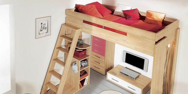 astuces d co am nager une mezzanine en chambre. Black Bedroom Furniture Sets. Home Design Ideas